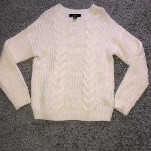 Forever 21 White Cozy Sweater